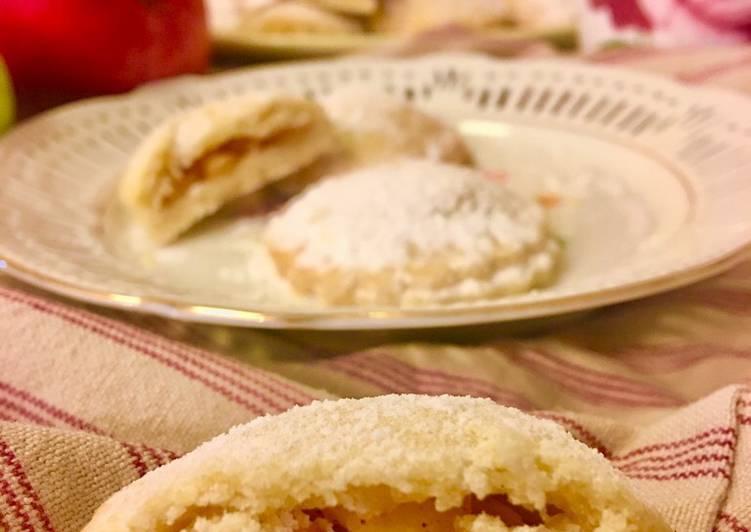 Biscotti di frolla ripieni alle mele 🍎