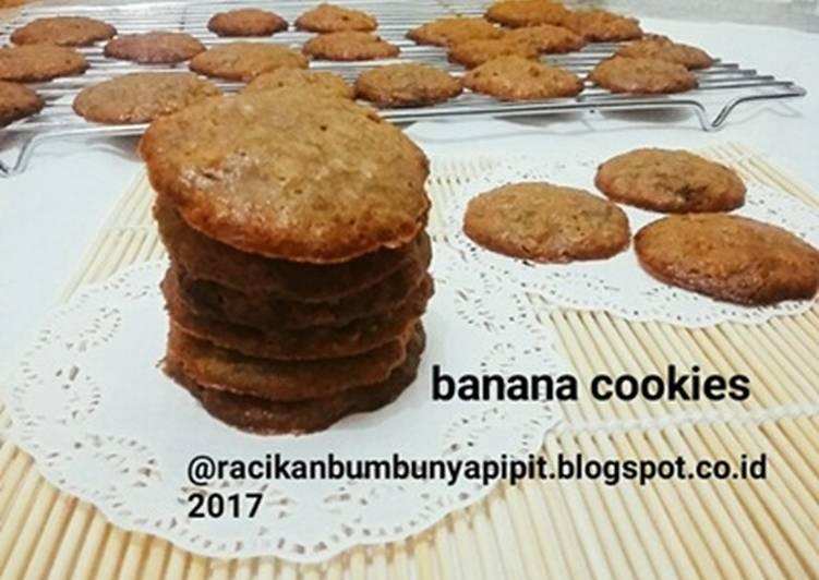 Resep Banana Cookies (kue kering pisang) #indonesiamemasak