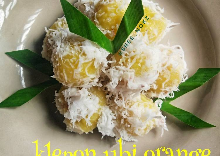 Resep Klepon ubi orange