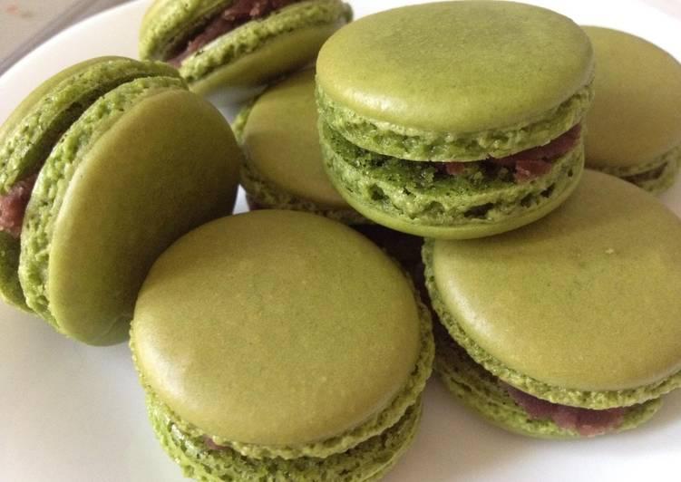 Macarons au matcha (thé vert)