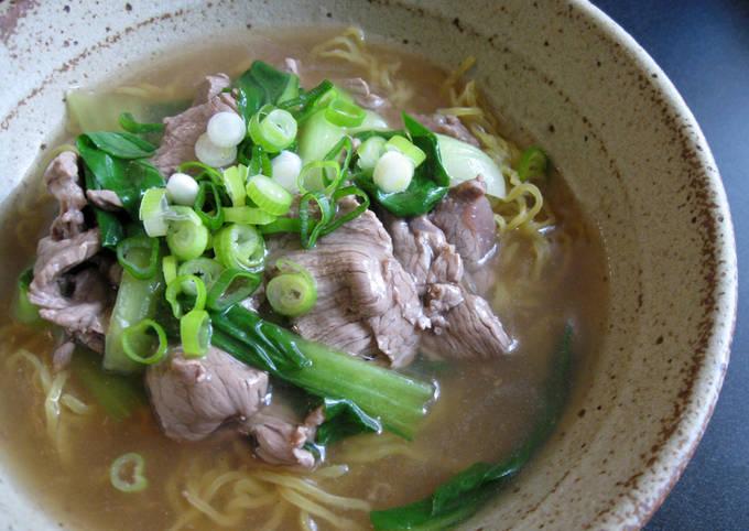 Beef & Bok Choy Ramen Soup
