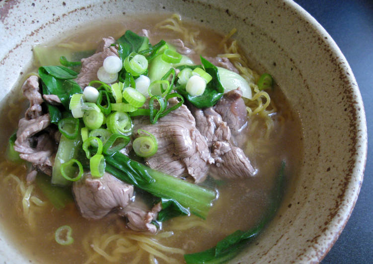 Easiest Way to Make Tasty Beef & Bok Choy Ramen Soup