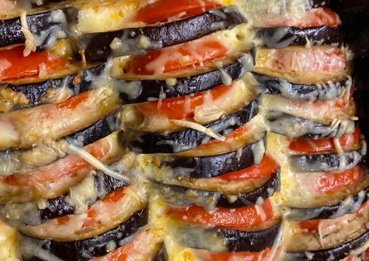 Melanzani-Tomaten-Mozzarella Auflauf (Parmigiana)
