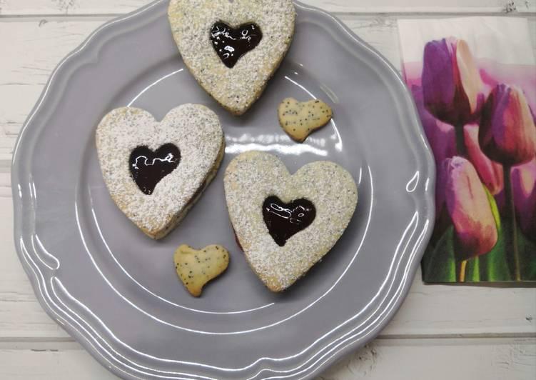 Glutén és tejmentes mákos linzer recept foto