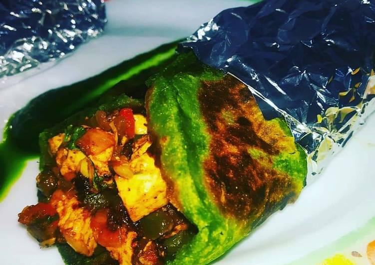 Easiest Way to Prepare Delicious Hara Paratha Rolls/Palak Paneer Kathi Rolls
