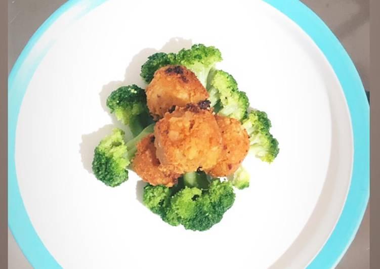 Bola kentang kaya protein menu MPASI praktis/cemilan anak