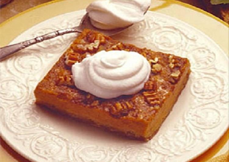 Pumpkin-Pecan Squares