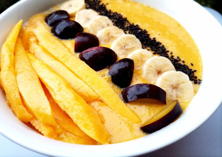 Recipe: Tasty Easy mango smoothie bowl