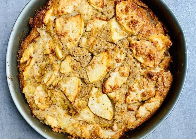 Gâteau Light aux pommes et noisettes Végétarien, Sans Gluten et sans lactose