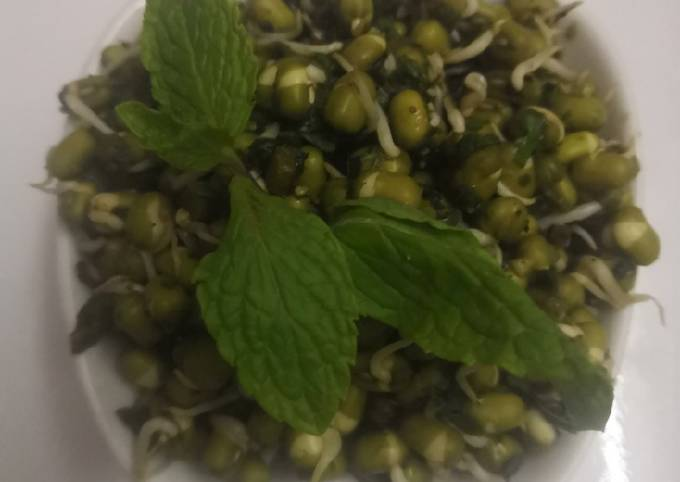Mint Moong bean sprouts Salad