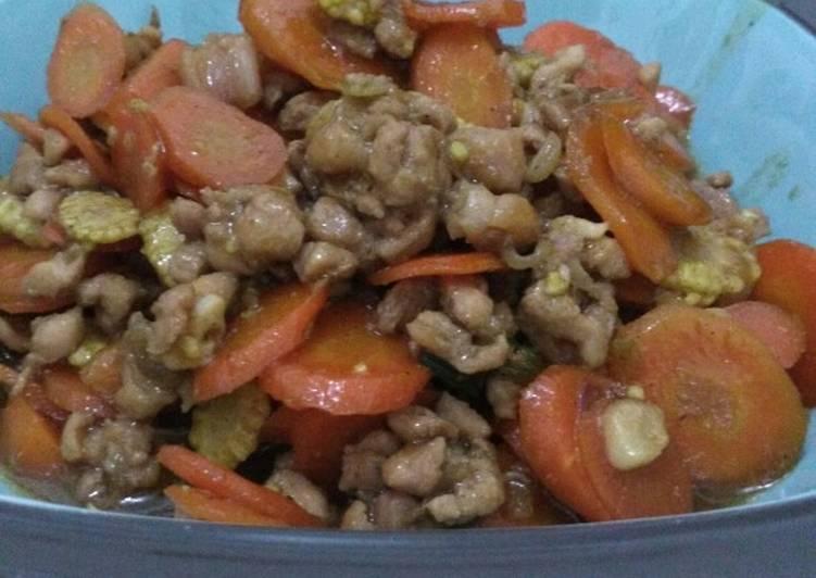 Tumis Cincang Daging Ayam