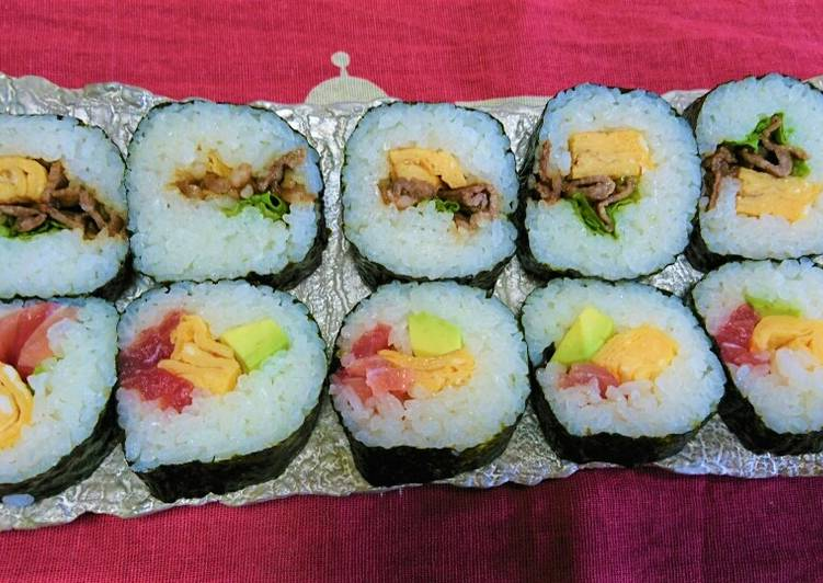 Step-by-Step Guide to Prepare Super Quick Homemade Raw tuna and Sweet soysauce Maki-sushi