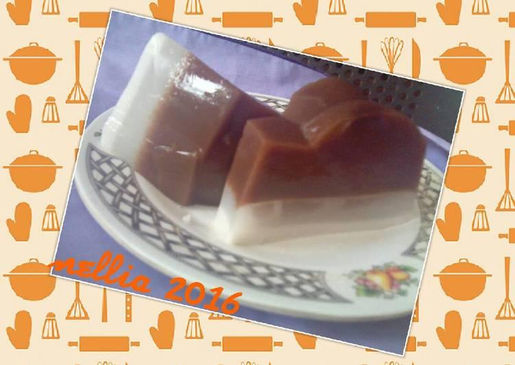 Puding 2 rasa (coklat&susu)