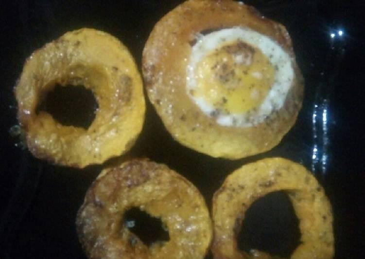 Rôti de potiron aux œufs