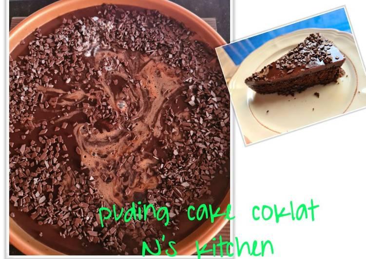 Puding cake coklat
