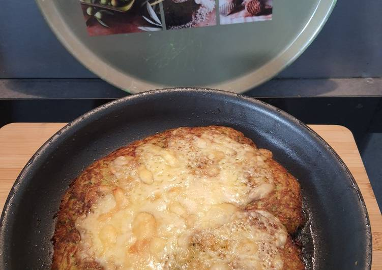 Paillasson de courgettes et pommes de terre gratiné
