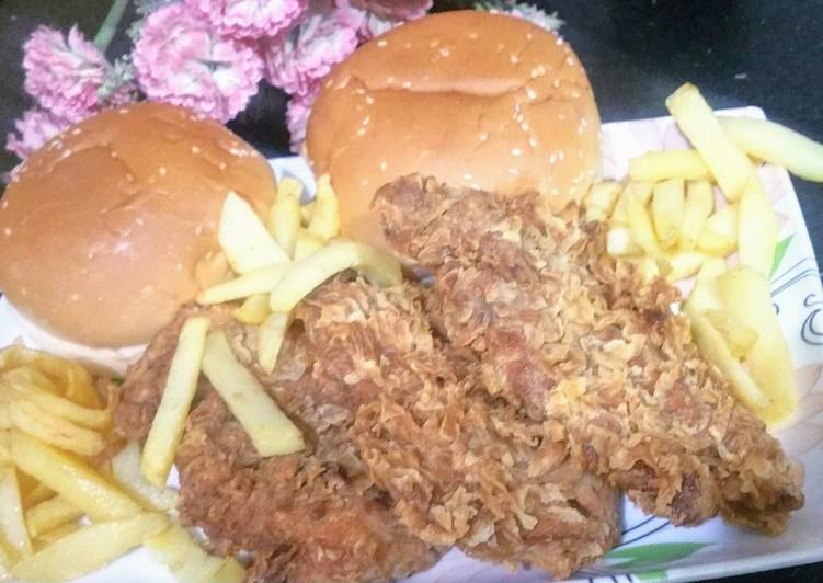 Recipe of Super Quick Homemade Zinger Burger