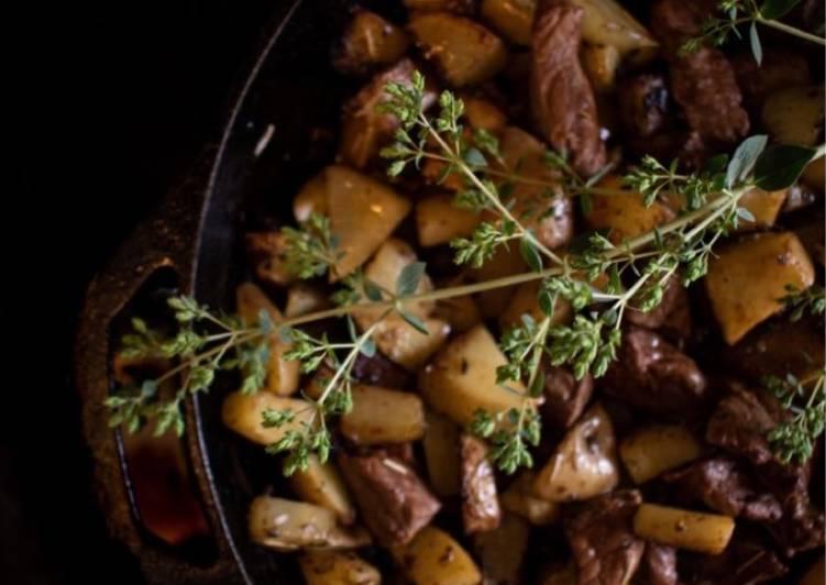 Recipe of Any-night-of-the-week Herb Steak + Potatoes