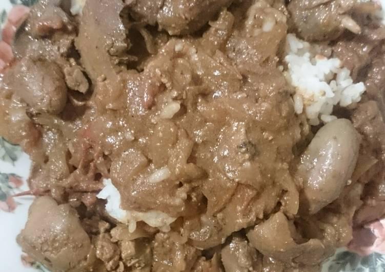 Onion Chicken liver