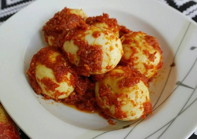 Telur Balado (recook buku xanderskitchen)