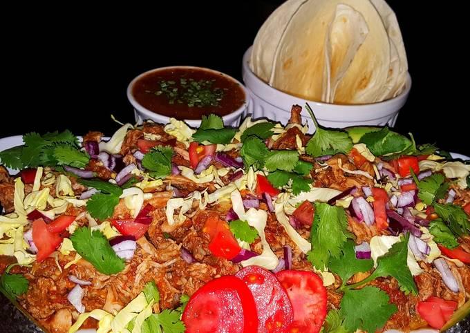Mike's Garlic Pork Machaca (Tender Pulled Mexican Pork Tacos)