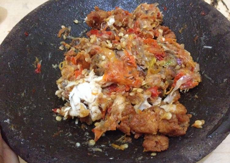 Ayam geprek mercon