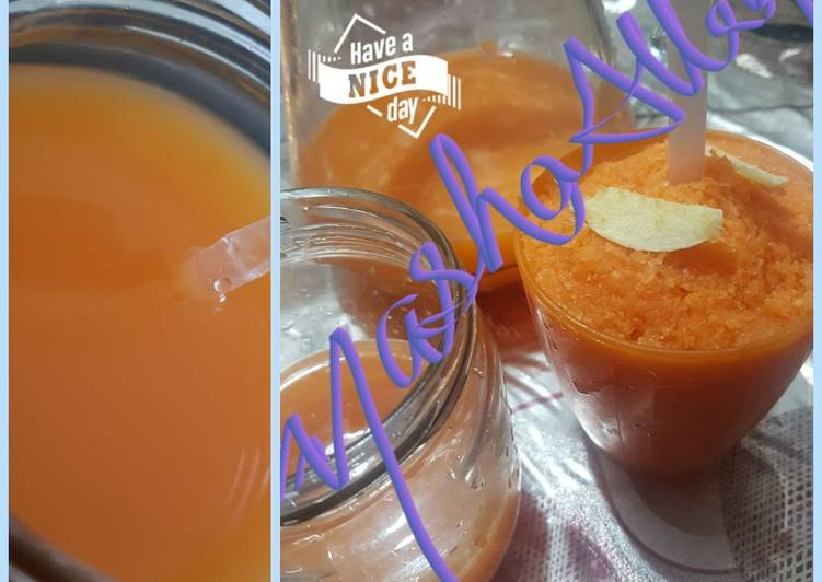 Recipe of Any-night-of-the-week Carrot and orange juice (with hint of ginger!)