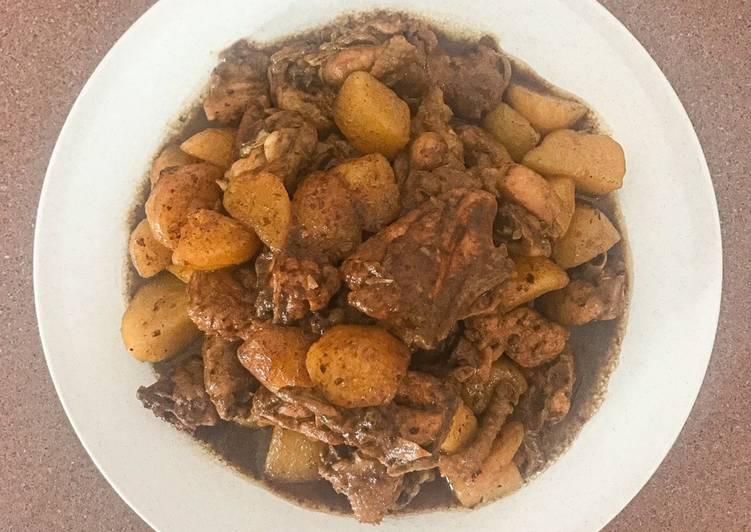 Ayam kentang semur jahe