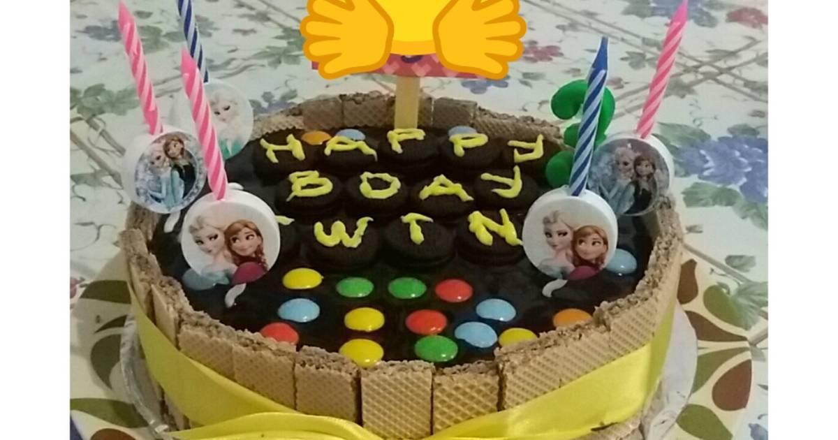Resep Oreo Cake Kekinian Kue Ultah Simple Oleh Mom Ev Cookpad