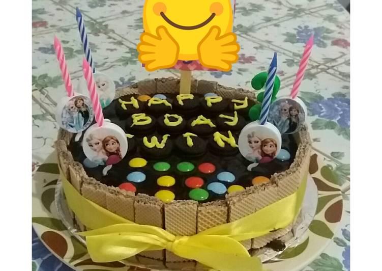 Resep Oreo Cake Kekiniankue Ultah Simple Oleh Momev Cookpad