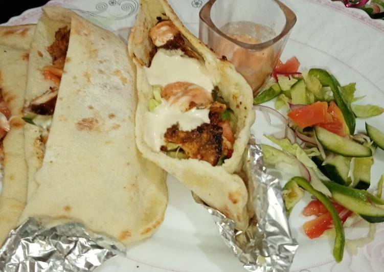 25 Minute Easiest Way to Make Spring Turkish Doner kabab pockets