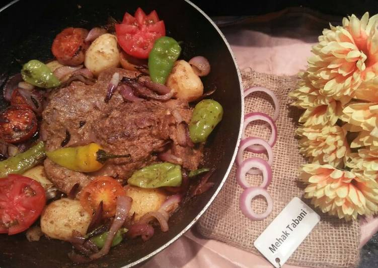 Mutton Roast with Butter Veggies