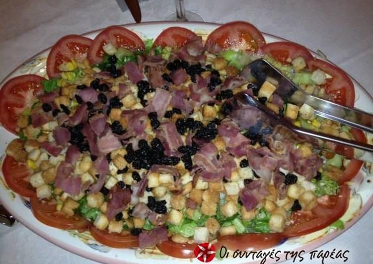 κύρια φωτογραφία συνταγής Πολύχρωμη σαλάτα με ξηρούς καρπούς