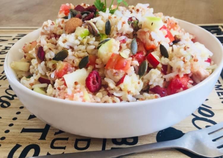 Comment Servir Salade de riz aux fruits frais