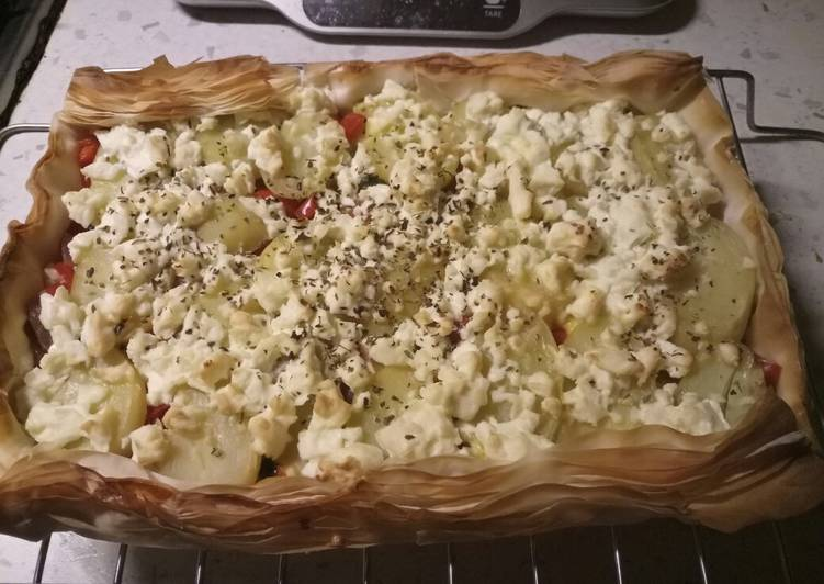 Step-by-Step Guide to Make Favorite Mediterranean filo pastry pie