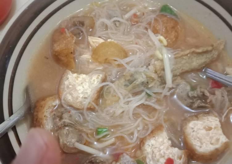 Resep Mie sop ayam medan Anti Gagal