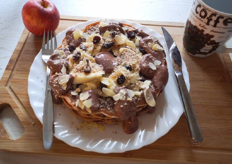 super-creamy-chocolate-waffle-with-almond-and-banana