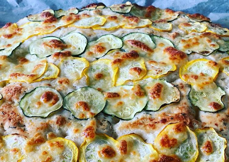 Zucchini-Mozzarella-Focaccia
