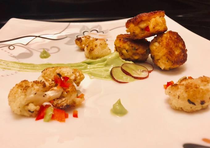 Crab Cakes w/ Spicy Avocado Purée *EASY*