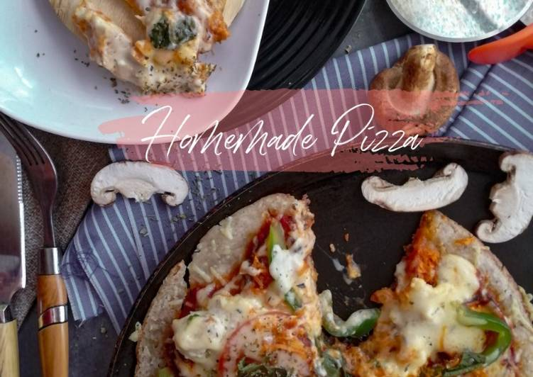 Resepi:  Homemade Piza Meat-Topping with Vegan Gluten free Crust  Dirumah