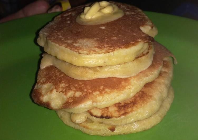 Pancake lembut anak kos tanpa baking powder