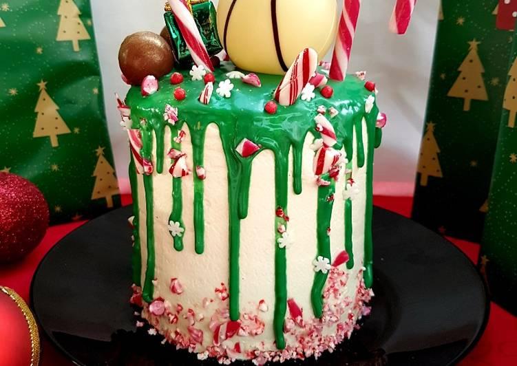 Vertical Drip Cake de Noël