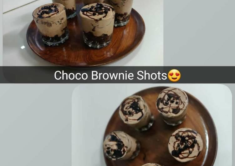 Choco Brownie Shots