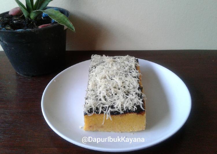 268. Brownies Labu Kuning Kukus Tanpa Mixer Takaran Sendok
