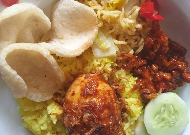 Nasi kuning tanpa santan low koles