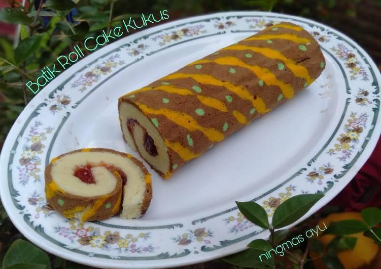 Batik roll cake kukus