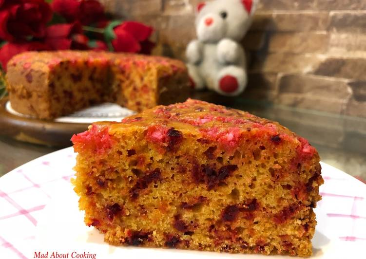 Whole Wheat Beetroot Carrot Cake – No Egg, No All Purpose Flour or Maida, No Butter