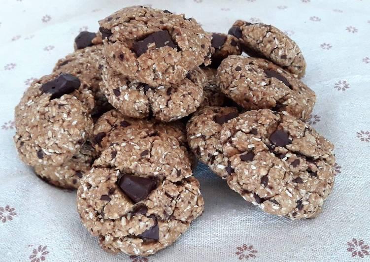 Ricetta Biscotti con avena, cocco e cioccolato