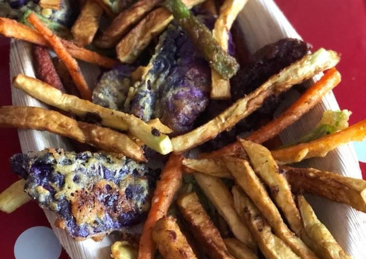 Arcoiris 🌈 de verduras en tempura vegano🌱vegetariana