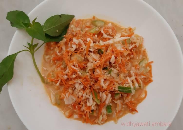 Resep Asinan Sayur Kol Wortel Bumbu Kacang Oleh Widhyawati Ambara Cookpad